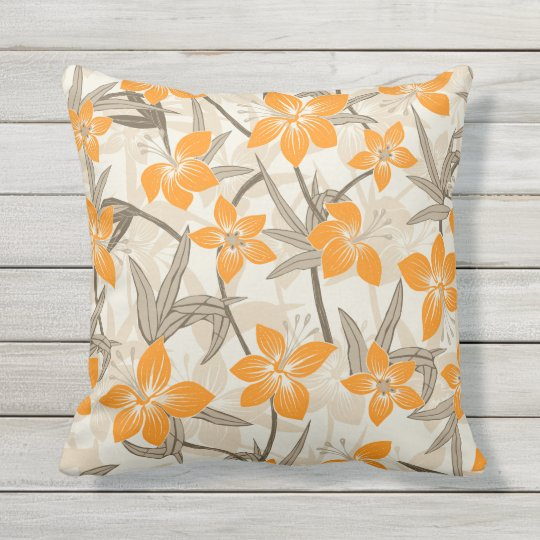 Anaina Hou Hawaiian Tropical Floral Outdoor Outdoor Pillow