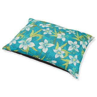 Anaina Hou Hawaiian Tropical Floral Pet Bed