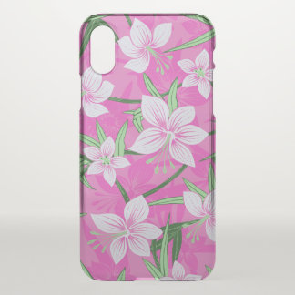 Anaina Hou Hawaiian Tropical Floral- Pink iPhone X Case