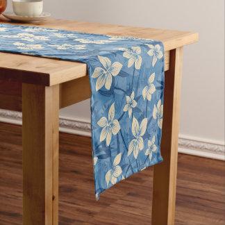 Anaina Hou Hawaiian Tropical Floral Short Table Runner