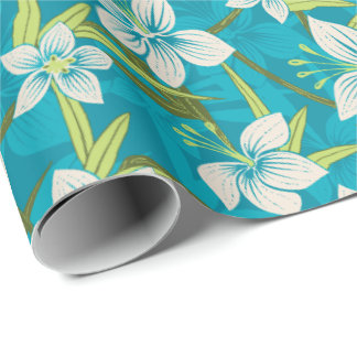 Anaina Hou Hawaiian Tropical Floral Wrapping Paper