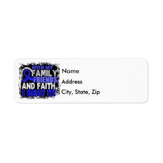 Anal Cancer Survivor Family Friends Faith Return Address Label