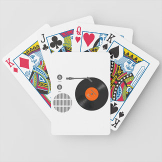 Analog record player bicycle playing cards