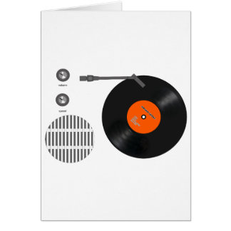 Analog record player card