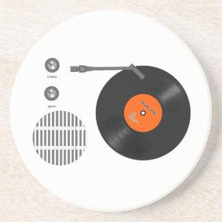 Analog record player coaster