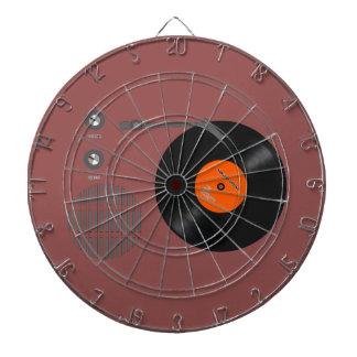Analog record player dartboard