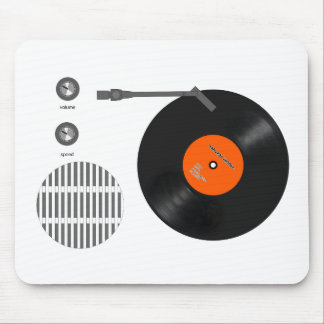 Analog record player mouse pad