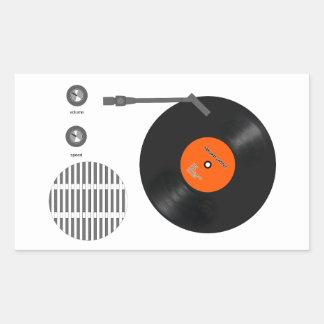 Analog record player sticker