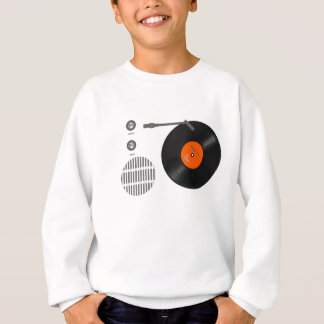 Analog record player sweatshirt