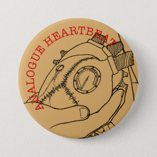 Analogue Heart Beat 3 Inch Round Button