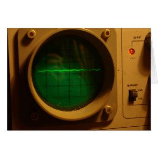 Analogue oscilloscope greeting card