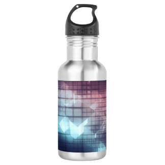 Analytics Technology with Data Moving 532 Ml Water Bottle