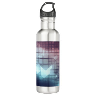 Analytics Technology with Data Moving 710 Ml Water Bottle