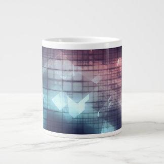 Analytics Technology with Data Moving Large Coffee Mug