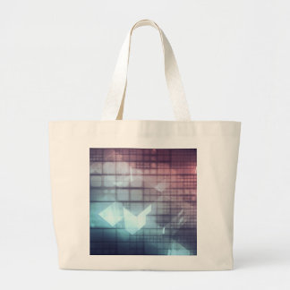 Analytics Technology with Data Moving Large Tote Bag