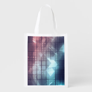 Analytics Technology with Data Moving Reusable Grocery Bag