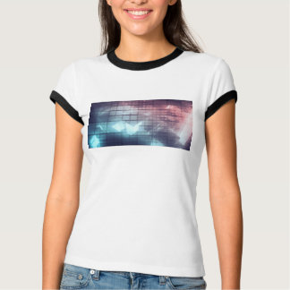 Analytics Technology with Data Moving T-Shirt