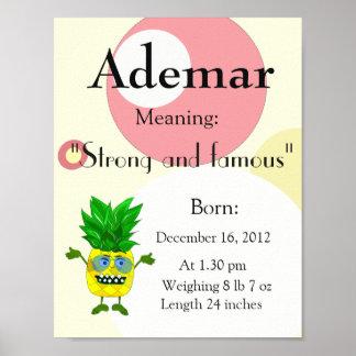 Ananas nommé de souvenir de signification