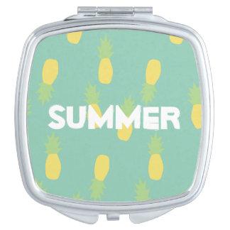 Ananas Pattern Design Summer - Mirror Travel Mirrors