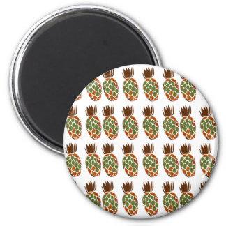 Ananases on white Design Ethno Magnet
