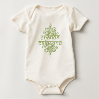 ananda balasana (happy baby) baby bodysuit