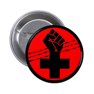 Anarchist Black Cross button
