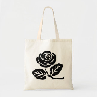 anarchist black rose tote bag