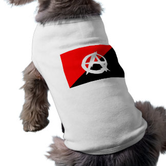 Anarchist Black White and Red Flag Pet Clothes