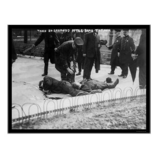 Anarchist Bomb Casualties in New York City 1908 Poster