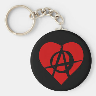 Anarchist heart keychain