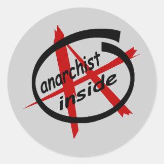 Anarchist Inside Classic Round Sticker
