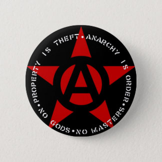 Anarchist Star 2 Inch Round Button