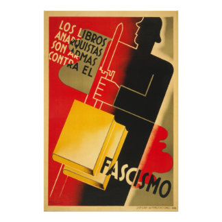 Anarchiste de guerre civile espagnole/affiche de F
