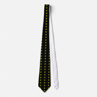 Anarcho Capitalism Black and Yellow Flag Tie