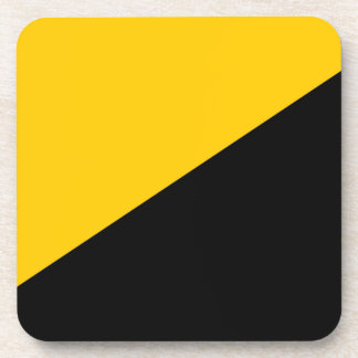 Anarcho Capitalist Black and Yellow Coaster