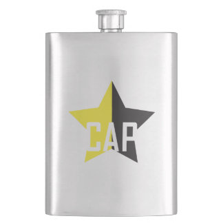 Anarcho-Capitalist Star Hip Flask
