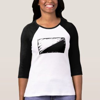 Anarcho-pacifism Flag 3/4 Sleeve T-shirt