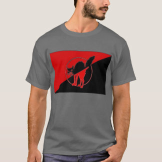 Anarcho Syndicalist flag with Sabotage Cat T-Shirt