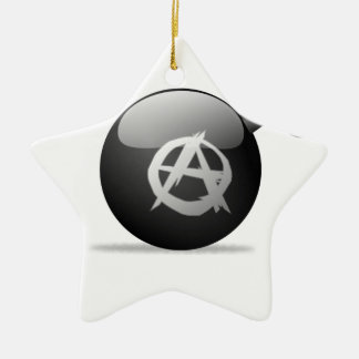 Anarchy Bomb Ceramic Ornament