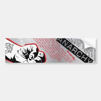 anarchy bumpersticker bumper sticker
