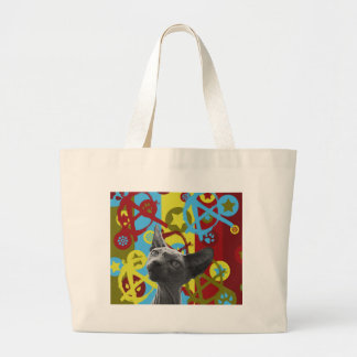 Anarchy Cat Large Tote Bag