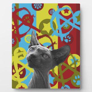 Anarchy Cat Photo Plaques