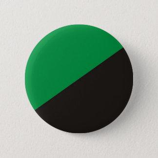anarchy eco flag green black ecology bio 2 inch round button