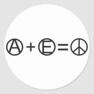 Anarchy + Equality = Peace Classic Round Sticker