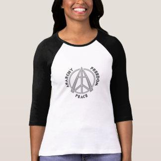Anarchy & Freedom & Peace Women's Raglan T-Shirt