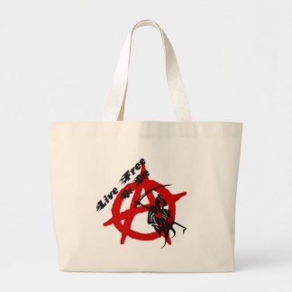 Anarchy Grim Reaper Large Tote Bag