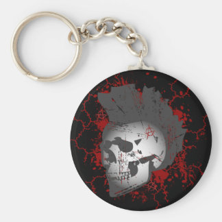 Anarchy Mohawk Skull Keychain