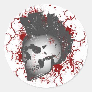 Anarchy Mohawk Skull Stickers
