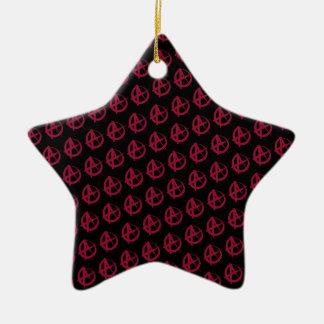 Anarchy Pattern Ceramic Ornament