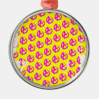Anarchy Pattern Metal Ornament